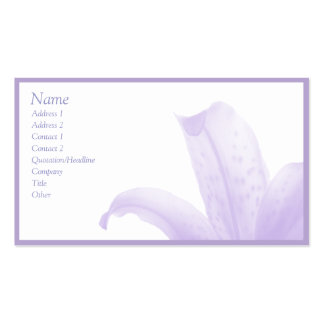 Simple Lilac Double-Sided Standard Business Cards (Pack Of 100)