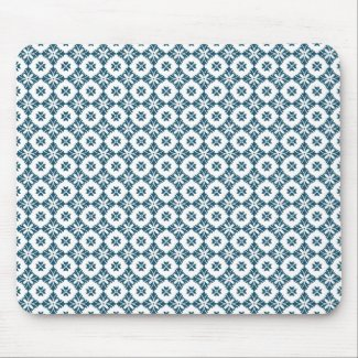 Simple lily pattern mouse pad