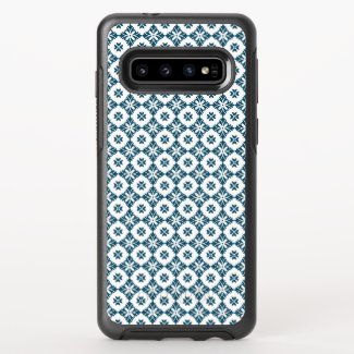 Simple lily pattern OtterBox symmetry samsung galaxy s10 case