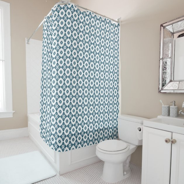 Simple lily pattern shower curtain