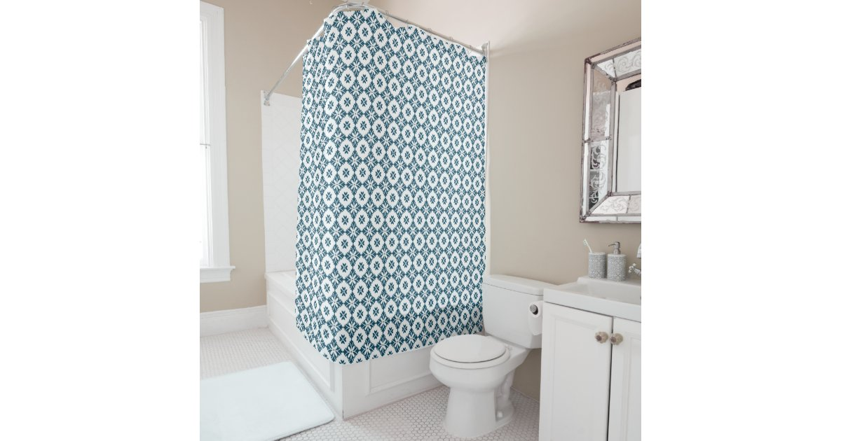 Simple lily pattern shower curtain | Zazzle.com