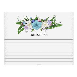 Simple Lily Spray Recipe Cards