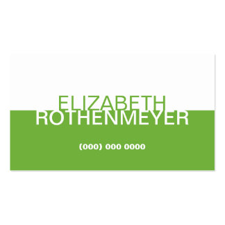 Simple Lime Green Panel Business Card