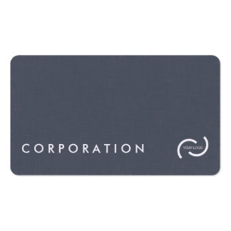 Simple linen texture business cards. White back. Double-Sided Standard Business Cards (Pack Of 100)