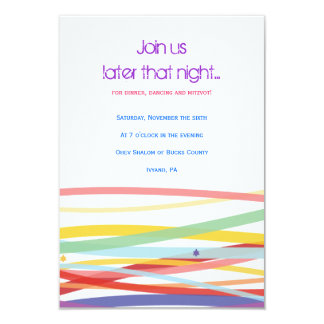 Simple Lines Bat Bar Mitzvah Party Card