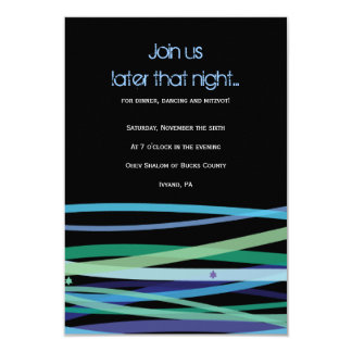 Simple Lines Bat Bar Mitzvah Party Reception Card