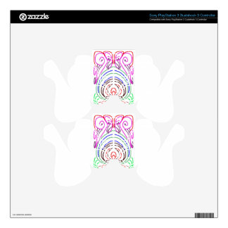 simple lines to a simple design PS3 controller skins
