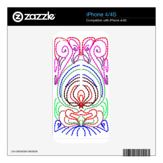 simple lines to a simple design skins for iPhone 4