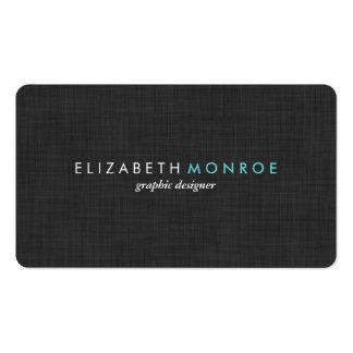 Simple liso de la textura de lino del gris de carb tarjetas de visita
