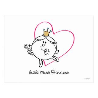 Simple Little Miss Princess | Pink Heart Postcard