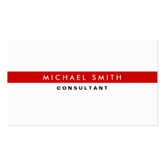Simple llano blanco moderno elegante profesional tarjetas de visita