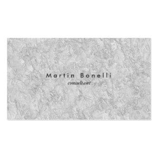 Simple llano minimalista moderno de la pared gris tarjetas de visita
