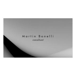Simple llano minimalista moderno negro gris tarjetas de visita