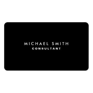 Simple llano moderno elegante profesional negro tarjetas de visita