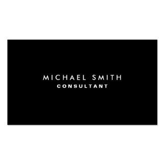 Simple llano moderno elegante profesional negro plantillas de tarjetas personales