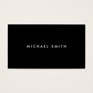 Simple llano negro moderno elegante profesional tarjeta de negocios