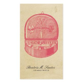 Simple llano rosado fresco de costura del estilo d plantillas de tarjetas personales