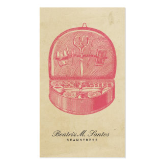 Simple llano rosado fresco de costura del estilo tarjetas de visita