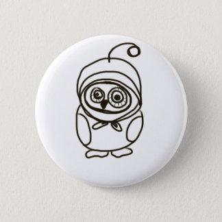 simple lovable owl pinback button