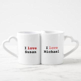 simple 'love each other' idea couples' coffee mug set