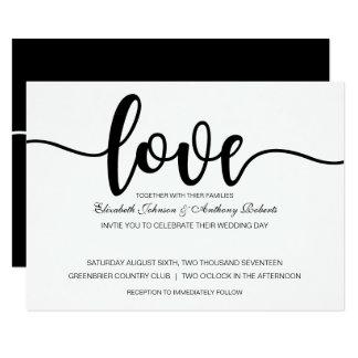 Simple Love Script   Modern Wedding Invitations