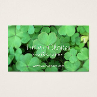Simple Lucky Clover Photography Business Cards