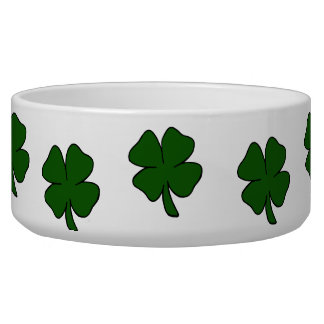 simple lucky four leaf clover design.png bowl