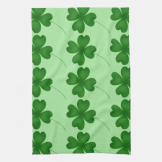 Simple lucky shamrocks towel