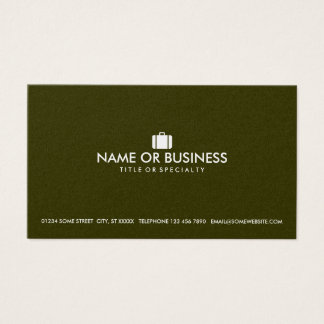 simple luggage business card