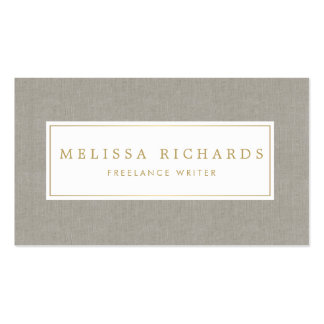 Simple Luxe Linen Writer, Author Business Card