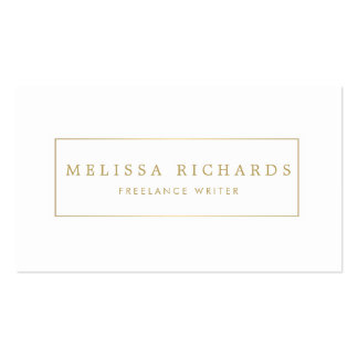 Simple Luxe White Writer, Author Business Card