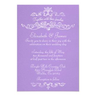 """Simple Luxury Lavender Wedding Invitations 5"""" X 7"""" Invitation Card"""