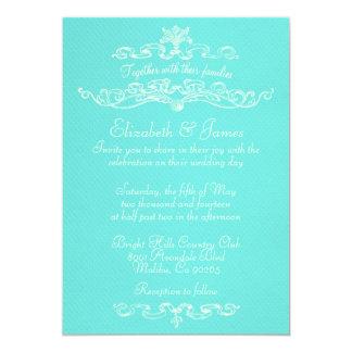 Simple Luxury Teal Wedding Invitations