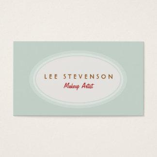 Simple Makeup Artist Light Turquoise Blue Business Card