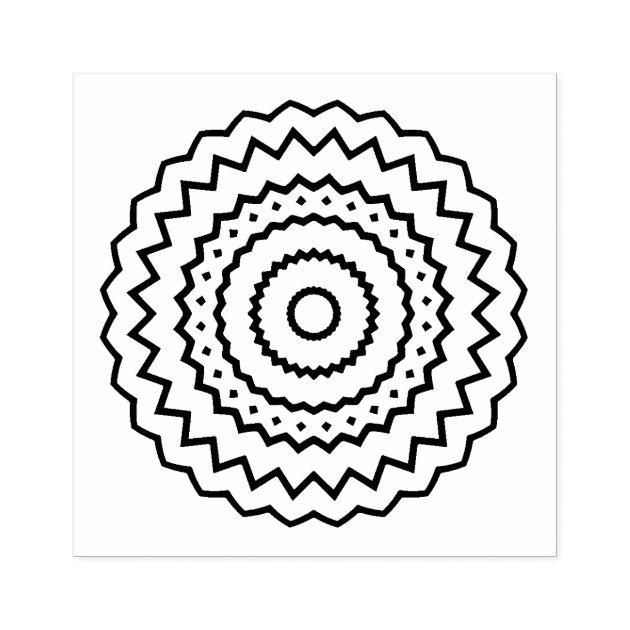 simple mandala design rubber stamp zazzle