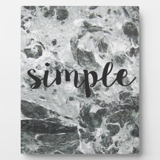 Simple marble plaque