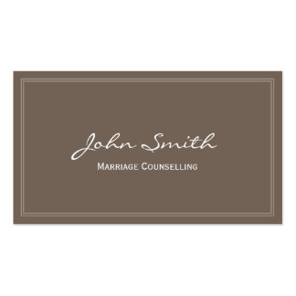 Simple Marriage Counselling Business Card (brown)