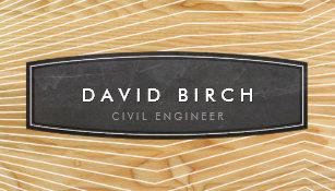 Wood grain business cards templates zazzle simple masculine chalkboard badge wood grain look business card reheart Gallery