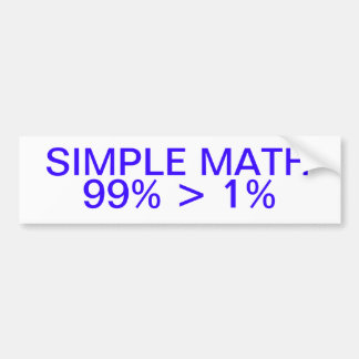 Simple Math Bumper Sticker