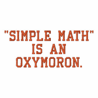 Simple Math is an Oxymoron Embroidered Shirt