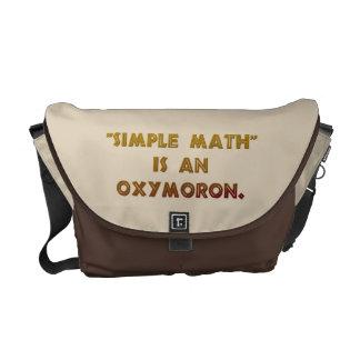 Simple Math is an Oxymoron Messenger Bag