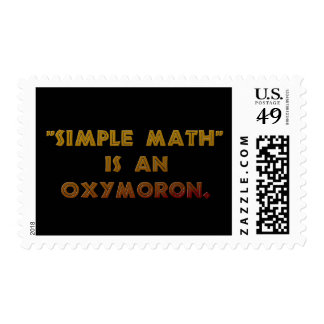 Simple Math is an Oxymoron Postage Stamps