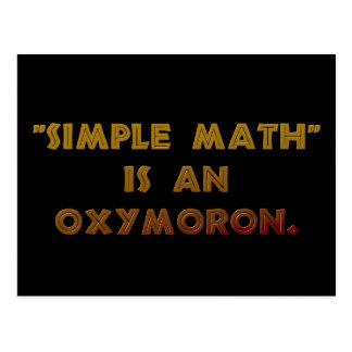 Simple Math is an Oxymoron Postcard