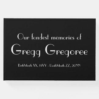 Simple Memorial Guest Book