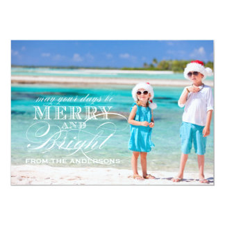 SIMPLE MERRY AND BRIGHT PHOTO FLAT CARD | GOLD