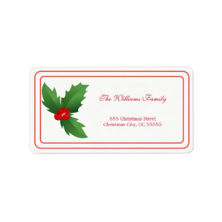 Simple Merry Christmas Address Label