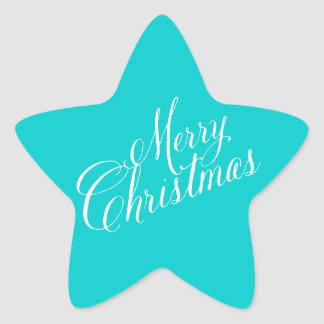 Simple Merry Christmas Calligraphy Sticker