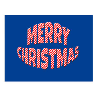 Simple Merry Christmas Candy Cane Style Postcard
