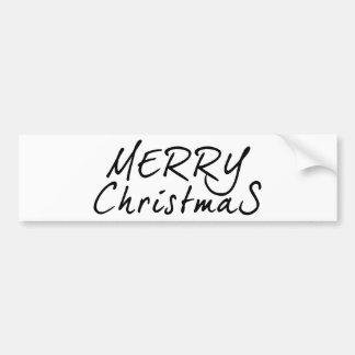 Simple Merry Christmas Text Bumper Sticker