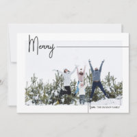 Simple Merry (L) Holiday Card & Year In Review